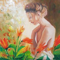Piktor Tanoda - Lány tulipánokkal - festés videó
