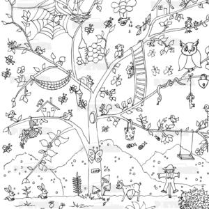 óriás gyerekszínező erdő