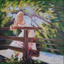Piktor Tanoda - lány a hídon